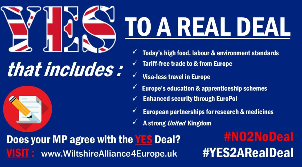 DOES YOUR MP AGREE WITH THE YES DEAL? POSTER
