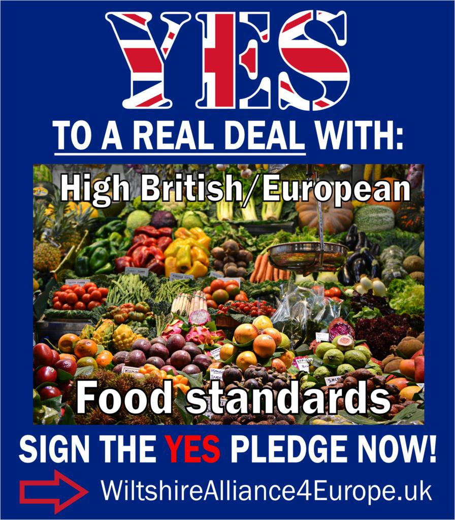 High British/European food standards